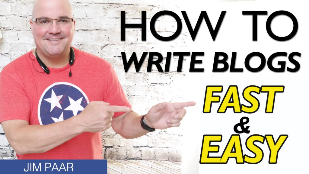 how to write blog posts fast and easy