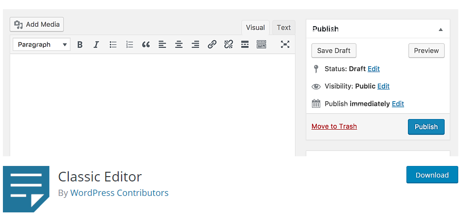 Wordpress-5-Switch-Back-To-Classic-Editor